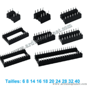Supports de Circuits Intégrés 6-40 broches