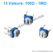 Potentiométre Trimpot 13 Valeurs 100Ω-1MΩ